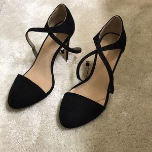 Zara basics black strappy heels
